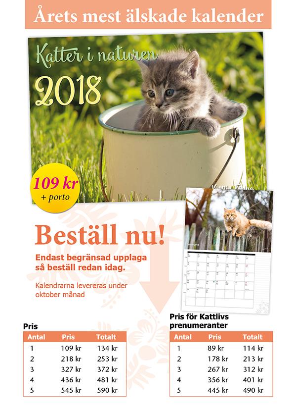 Katter i naturen 2018