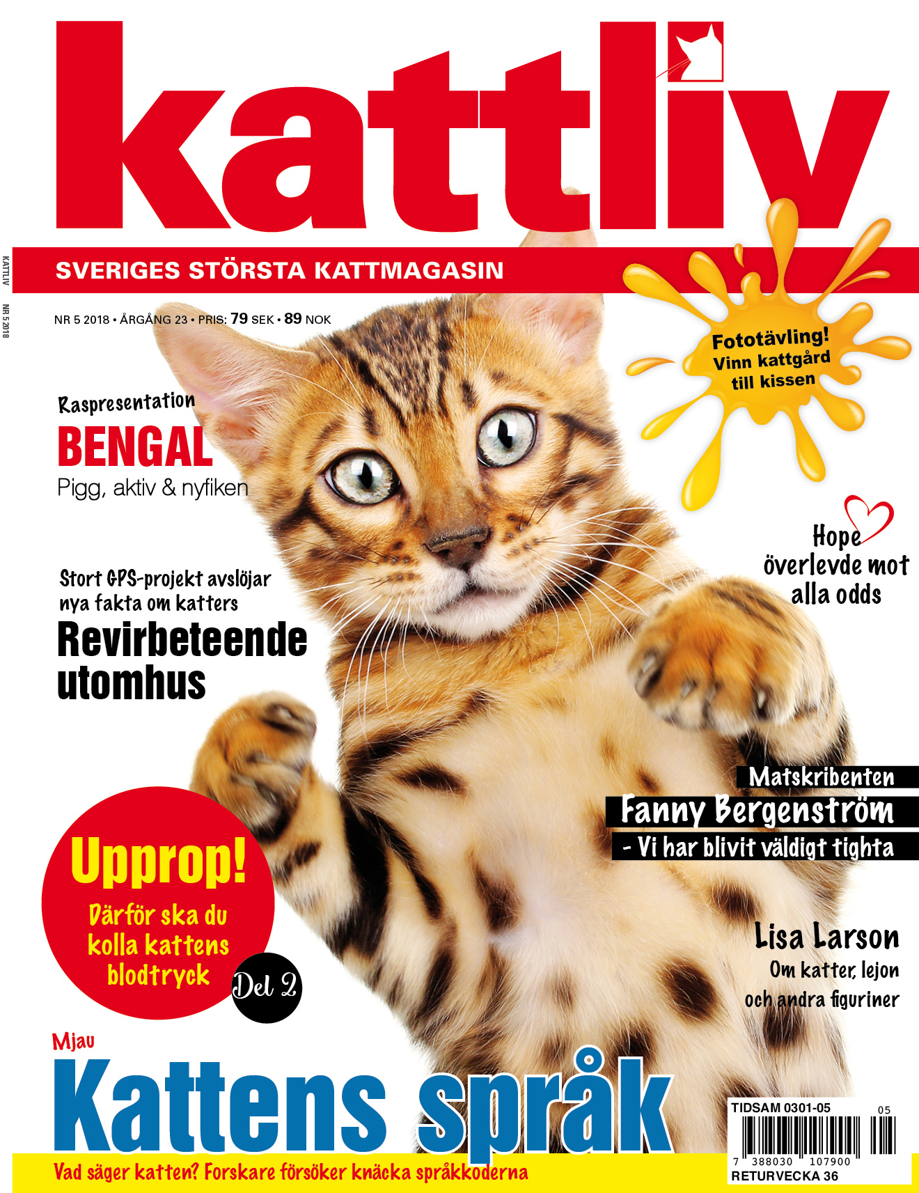 Tidningen Kattliv nr 5